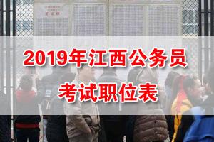 2019江西公务员考试招录职位表